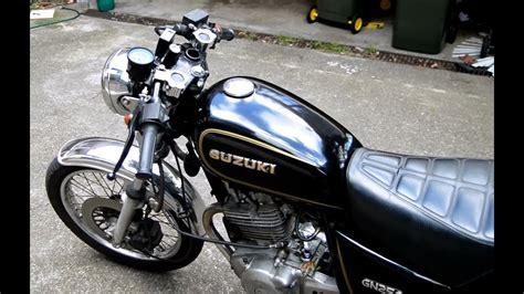 suzuki gn cc cafe racer onboard camera gopro