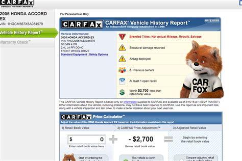 How To Get A Free Carfax  Yourmechanic Advice