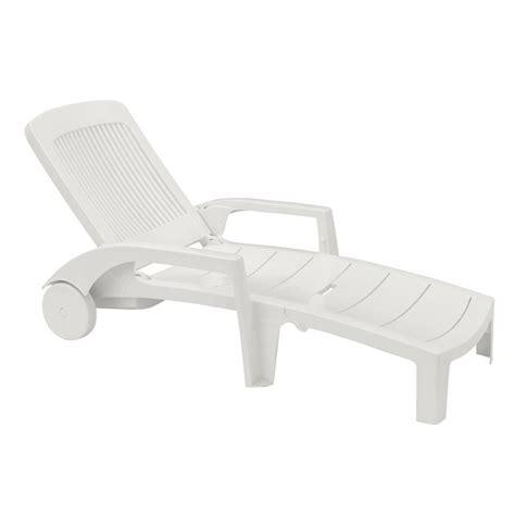 chaise longue plastique bain de soleil fidji blanc achat vente chaise longue