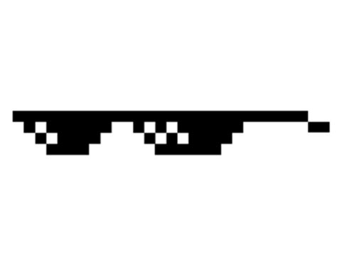Thug Life Meme - deal with it glasses small transparent png stickpng