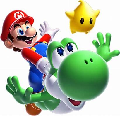 Mario Yoshi Super Galaxy Luma Bros Characters