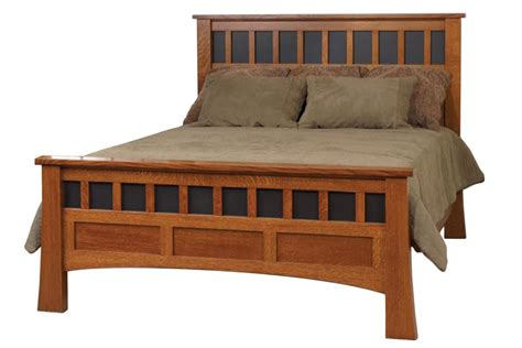 wooden headboard bridgeport antique solid oak mission bed burress furniture