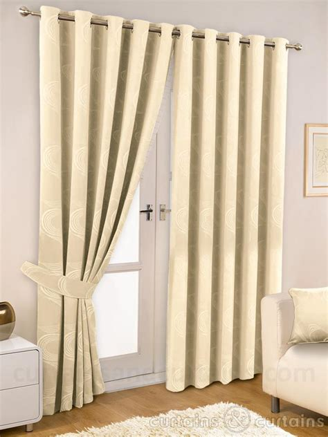 ivory cream thermal lined eyelet curtain curtains and