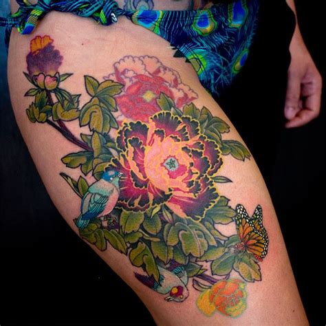 flower thigh tattoos  tattoo ideas gallery