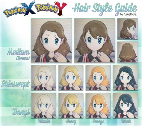 Pokemon X And Y Female Hairstyles