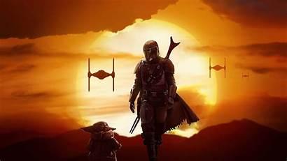 Wars 4k Mandalorian Star Yoda Wallpapers Background