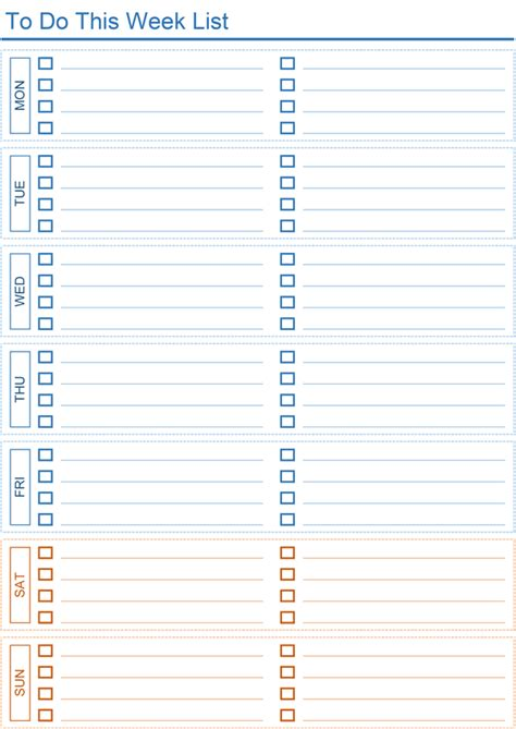 daily   list templates  excel
