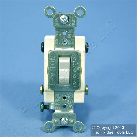 leviton gray 4 way commercial toggle wall light switch 20a