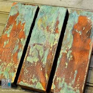 Wood Icing Canvas Art Project Using Modern Masters Rust