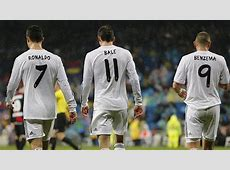 Real Madrid celebrate Bale, Benzema & Cristiano Ronaldo