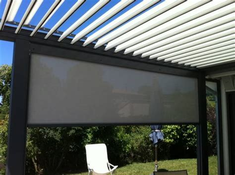 pergola bioclimatique avec stores zip screen v 233 randa