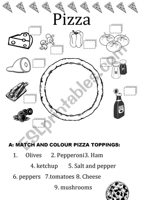 making pizza time esl worksheet  preyproductions