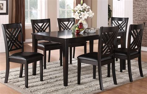espresso dining room set espresso 7 dining room set 18762