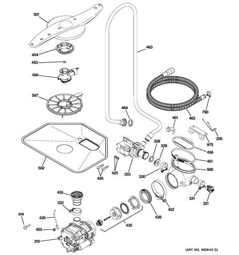 ge dishwasher escutcheon door assembl parts model pdwjii searspartsdirect
