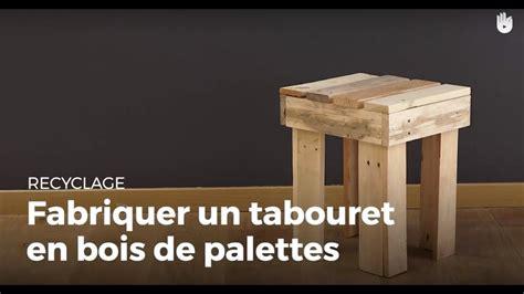 fabriquer un tabouret 4 pieds en bois de palette recycler