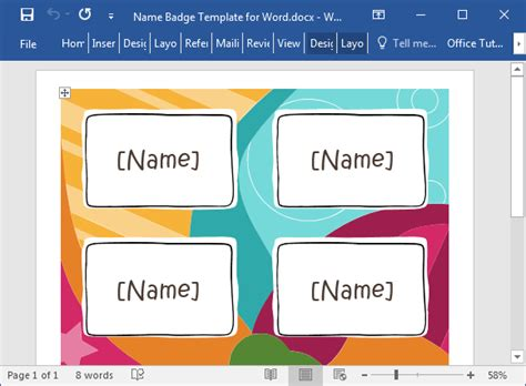 name tag template free name badge template for word