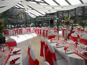 Décoration Mariage Rouge Et Blanc : impressionnant deco mariage blanc et rouge avec dacoration ~ Melissatoandfro.com Idées de Décoration