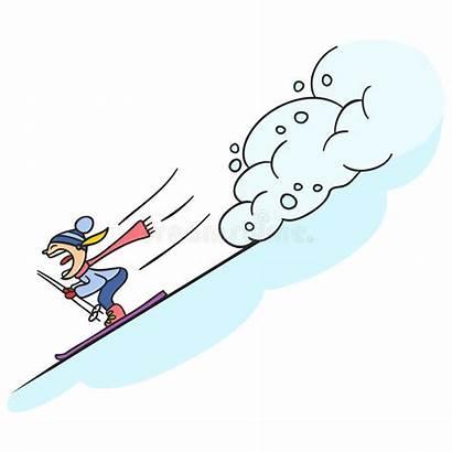 Extreme Sports Avalanche Illustration Vector Sunny Fantastic