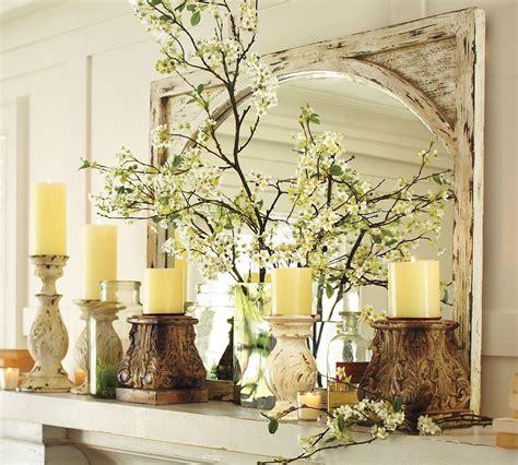 I love mantle decor.. | Pottery barn look, Spring decor ...