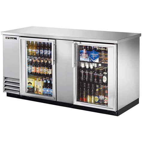 Home Bar Refrigerator by True Tbb 3g S Ld 69 Quot Stainless Steel Glass Door Back Bar