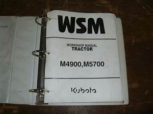 Kubota M4900 M5700 Tractor Shop Service Repair Manual