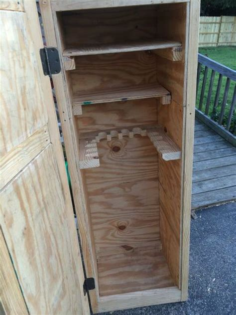 diy gun cabinet plans how to build a simple gun cabinet woodworking projects