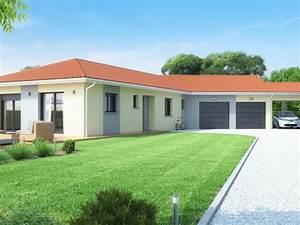 Maison Plain Pied En L : constructeur maison plain pied rh ne alpes maisons id ales ~ Melissatoandfro.com Idées de Décoration