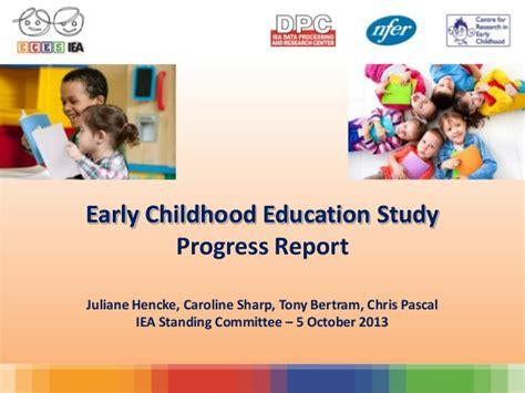 early childhood education study progress report 292 | early childhood education study progress report 1 638