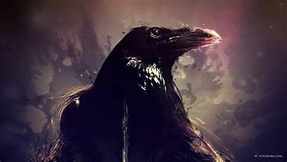 Crow Raven Birds Artwork Desktop Wallpapers Background