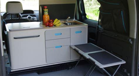 kangoo camper travelpack portable kitchen turns