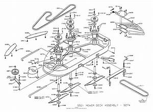 Dixon Ztr 5501  1994  Parts Diagram For Mower Deck Assembly