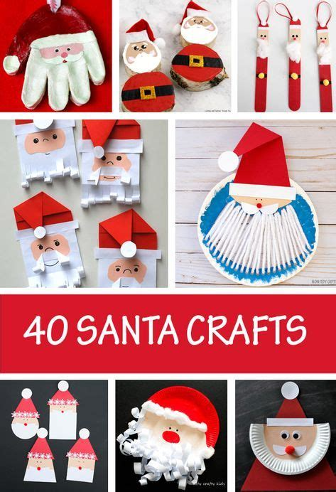 santa crafts  kids easy  cute christmas crafts