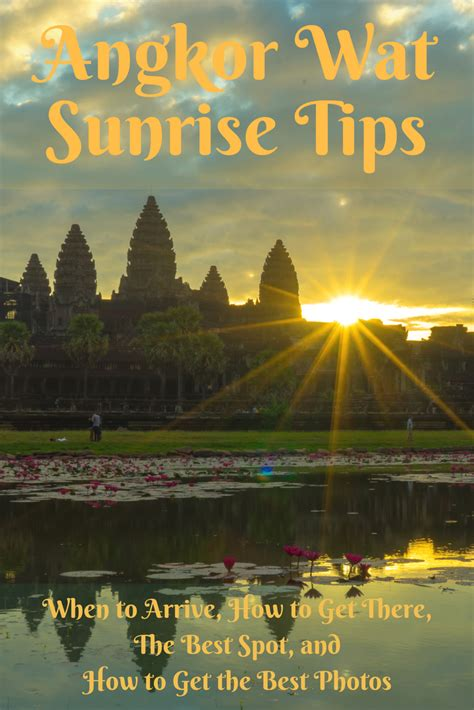 tips for and photographing the angkor wat