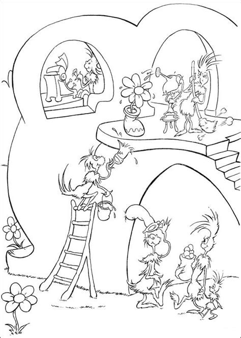 Grinch Kleurplaat by Horton Coloring Pages To And Print For Free