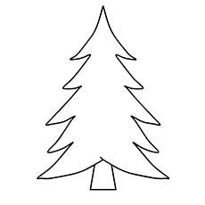 blank christmas tree coloring page coloring page