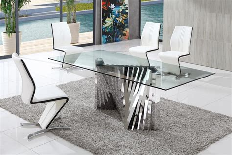 glass dining table and chairs clearance glass furniture class style and unmatchable elegance