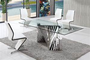 Dining Table and Chairs, Glass Dining Table, Modenza Furniture