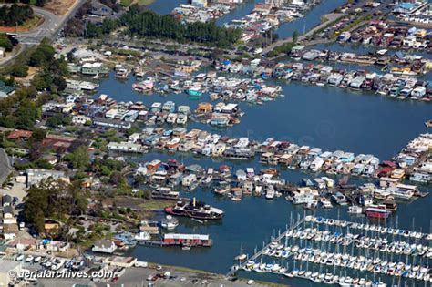 Boat House Ca by Aerial Photographs Of Sausalito Houseboats