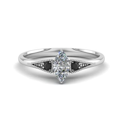 Marquise Cut Small Three Stone Milgrain Engagement Ring. Charm Engagement Rings. Top 10 Engagement Rings. Creative Engagement Rings. Dramatic Engagement Engagement Rings