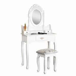 Kosmetiktisch Mit Spiegel : frisierkommode mit hocker spiegel wei schminktisch frisiertisch kosmetiktisch ebay ~ Orissabook.com Haus und Dekorationen