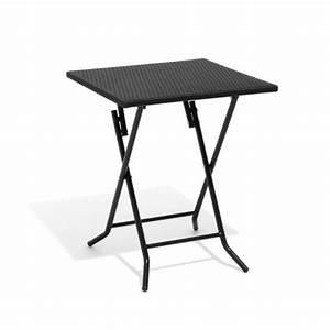 Table Pliante Noire : table de jardin pliante 2 personnes noire table chaise ~ Teatrodelosmanantiales.com Idées de Décoration