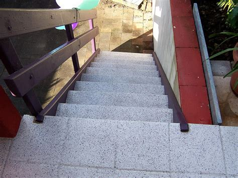 Outdoor patio, back timber stairs, front concrete stairs