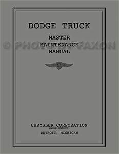 1934 Dodge Truck Repair Shop Manual Original