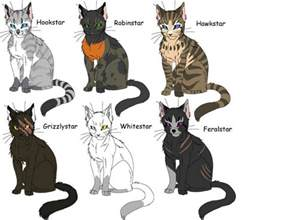 clan of cats clan leaders warrior cats of