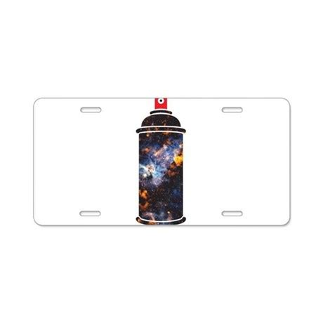 Spray Paint  Cosmic Aluminum License Plate By