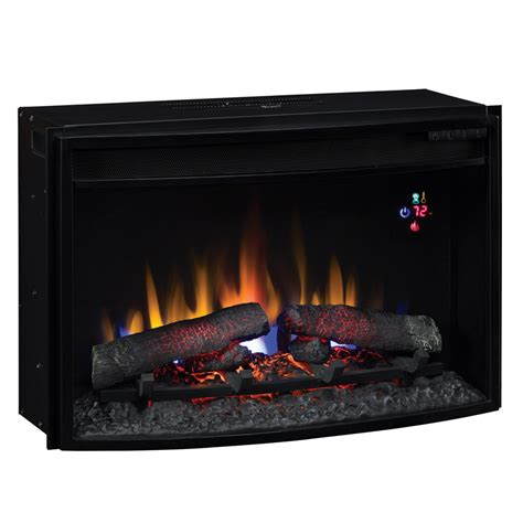 electric fireplace logs classicflame 25 in spectrafire plus curved electric