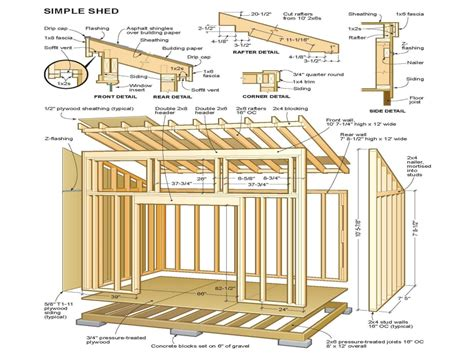 Free 10x12 Shed Plans by Simple Shed Plans Simple Shed Plans 10x12 Cabin Shed
