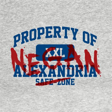 property of negan walking dead zombtees