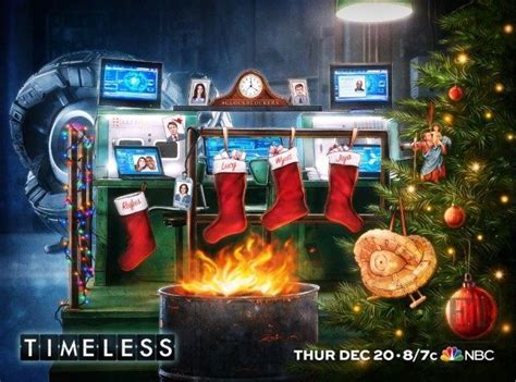 'Timeless' Finale: First Look at Festive Holiday Poster ...