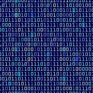 Blue Binary Background — Stock Vector #32871373